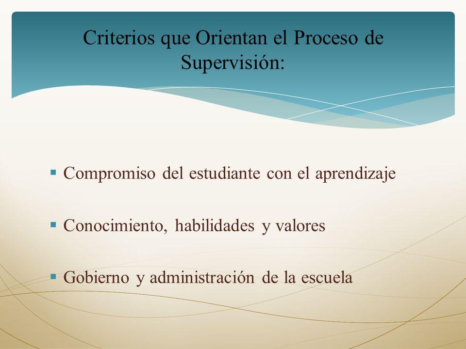 Criterios que Orientan el Proceso de Supervisión:
