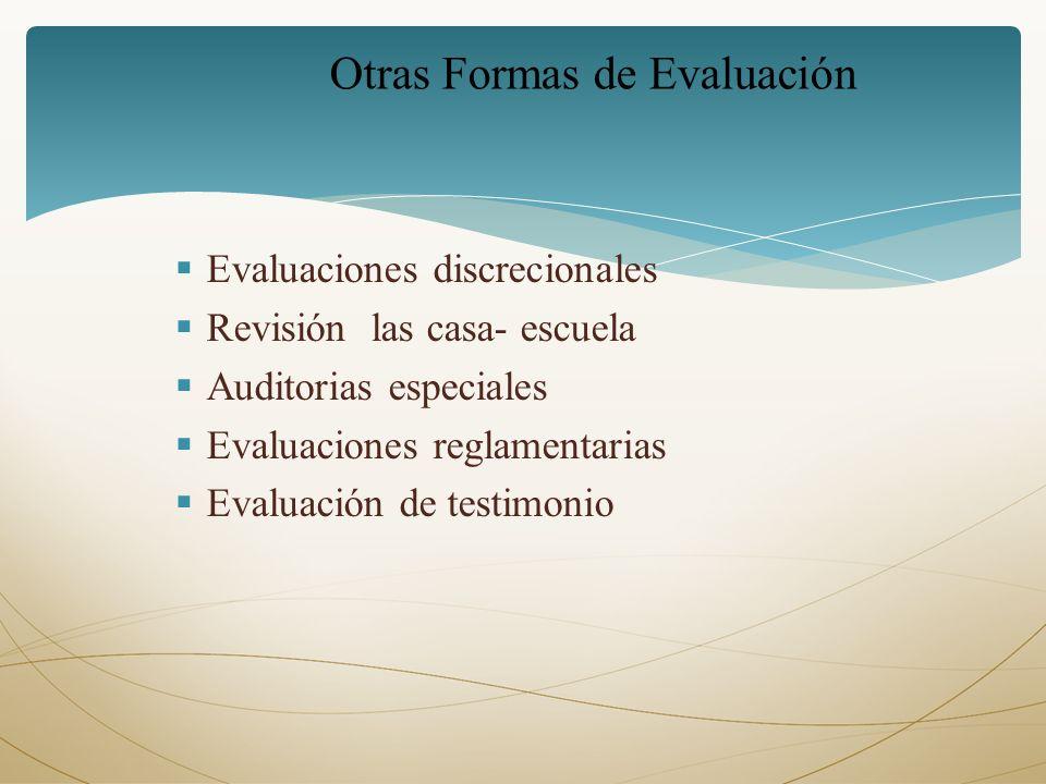 Otras Formas de Evaluación