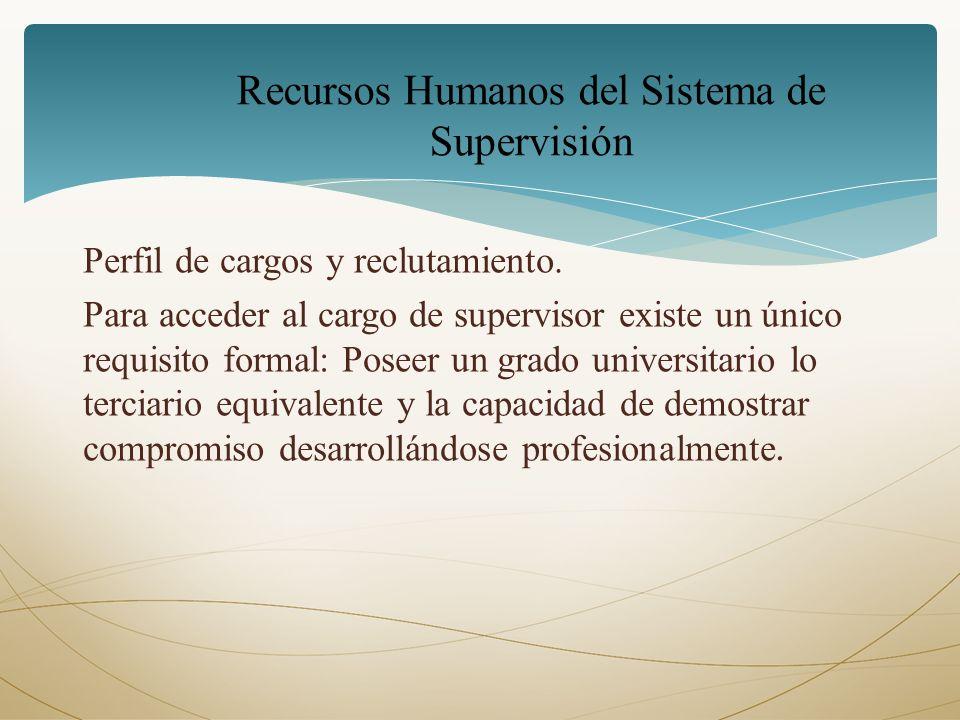Recursos Humanos del Sistema de Supervisión