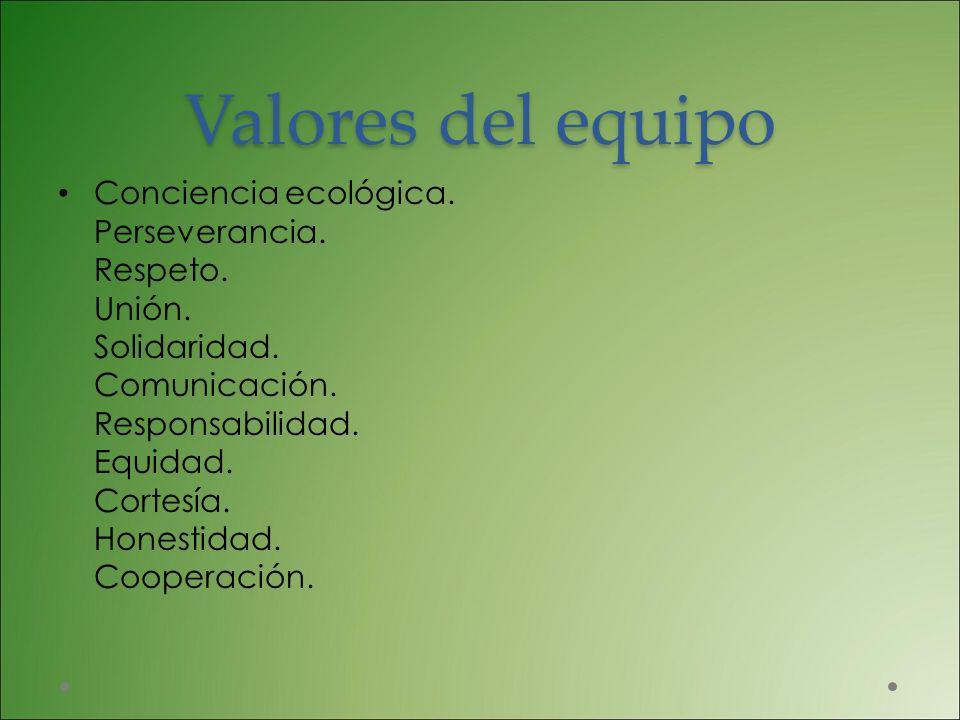 Valores del equipo