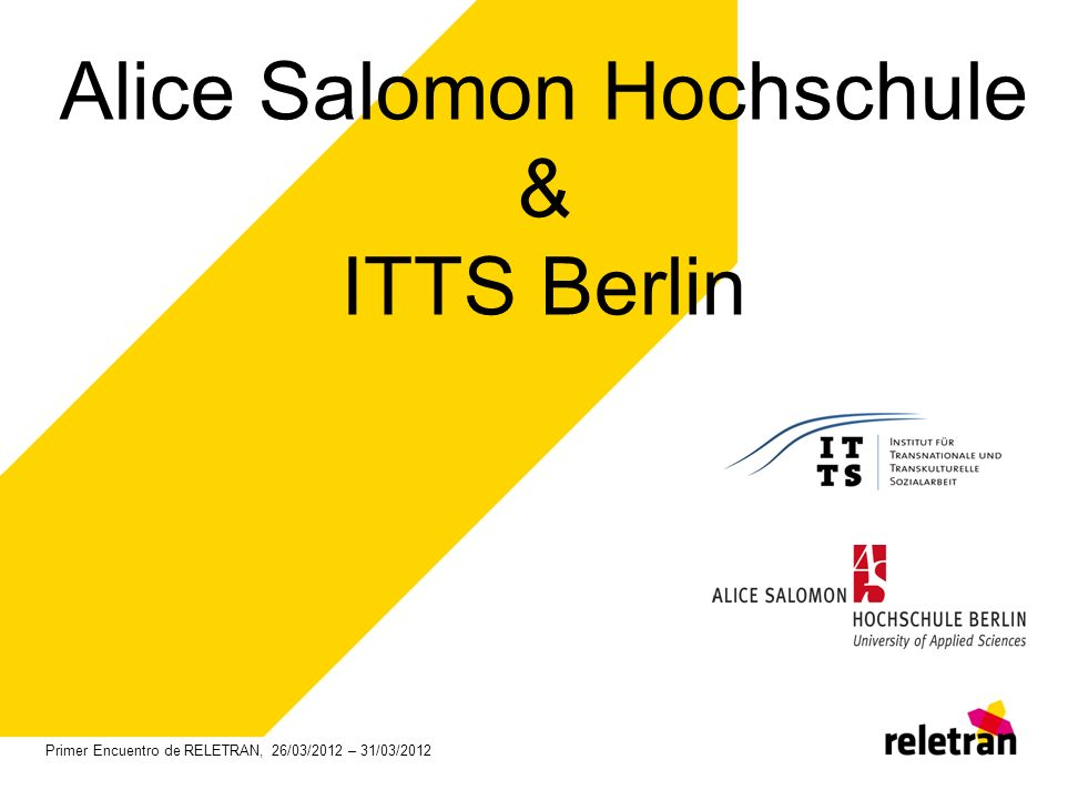 Alice Salomon Hochschule & ITTS Berlin