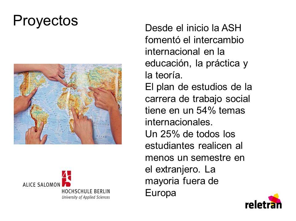 Proyectos Desde el inicio la ASH fomentó el intercambio