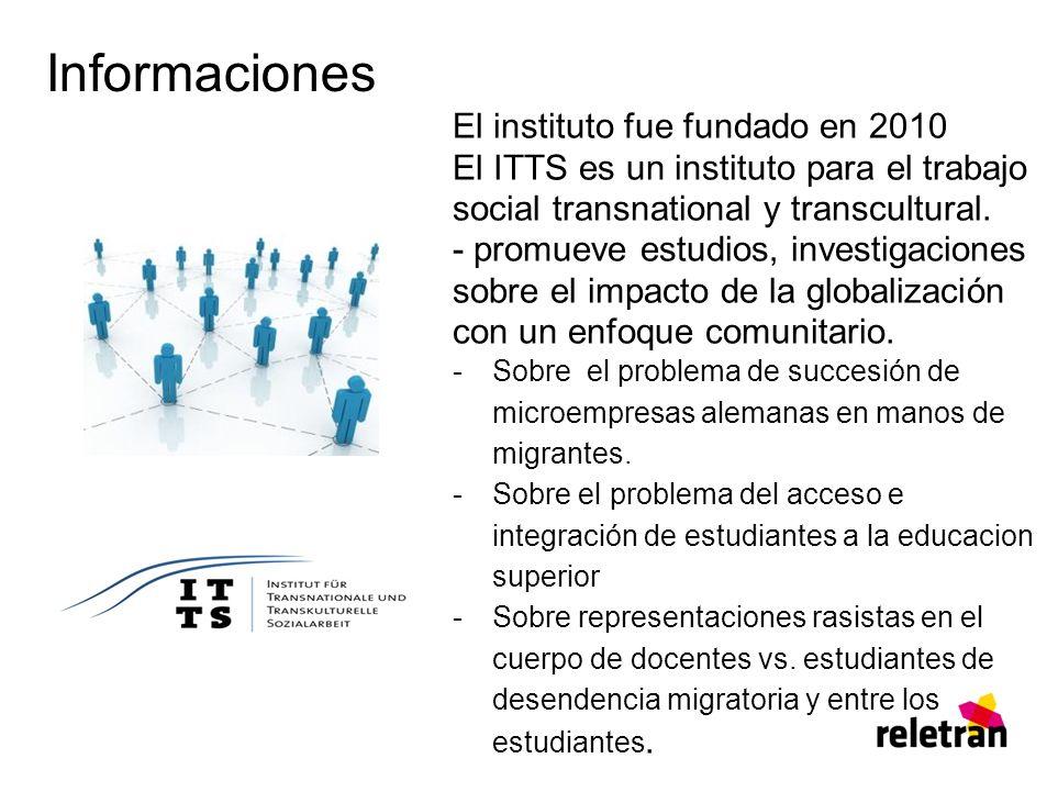 Informaciones El instituto fue fundado en 2010