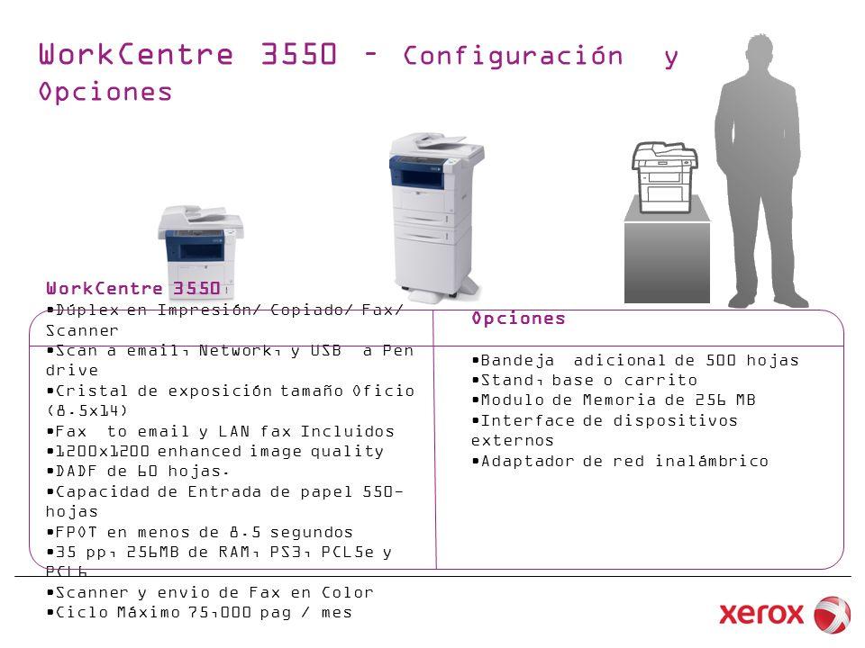 WorkCentre 3550 – Configuración y Opciones