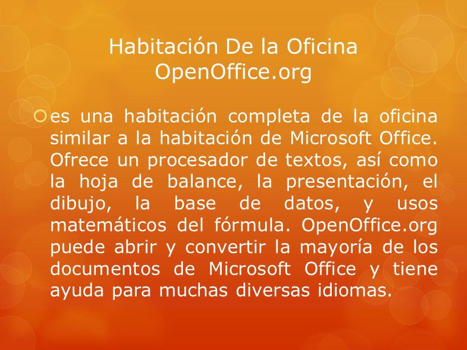 Habitación De la Oficina OpenOffice.org