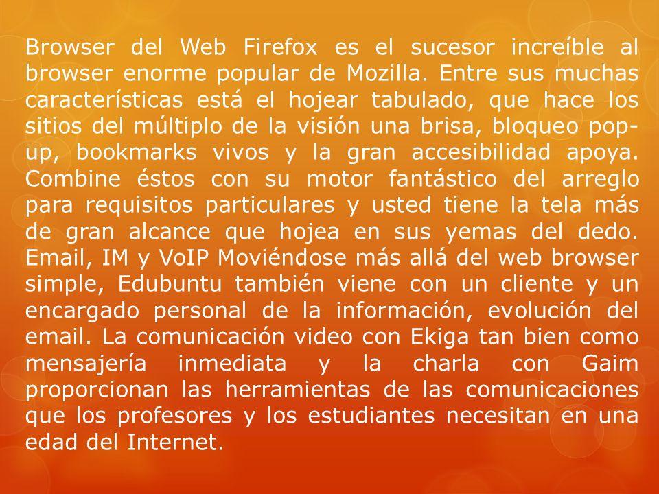 Browser del Web Firefox es el sucesor increíble al browser enorme popular de Mozilla.