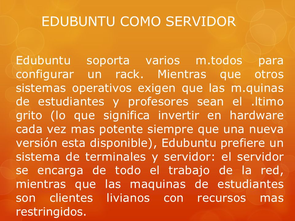 EDUBUNTU COMO SERVIDOR
