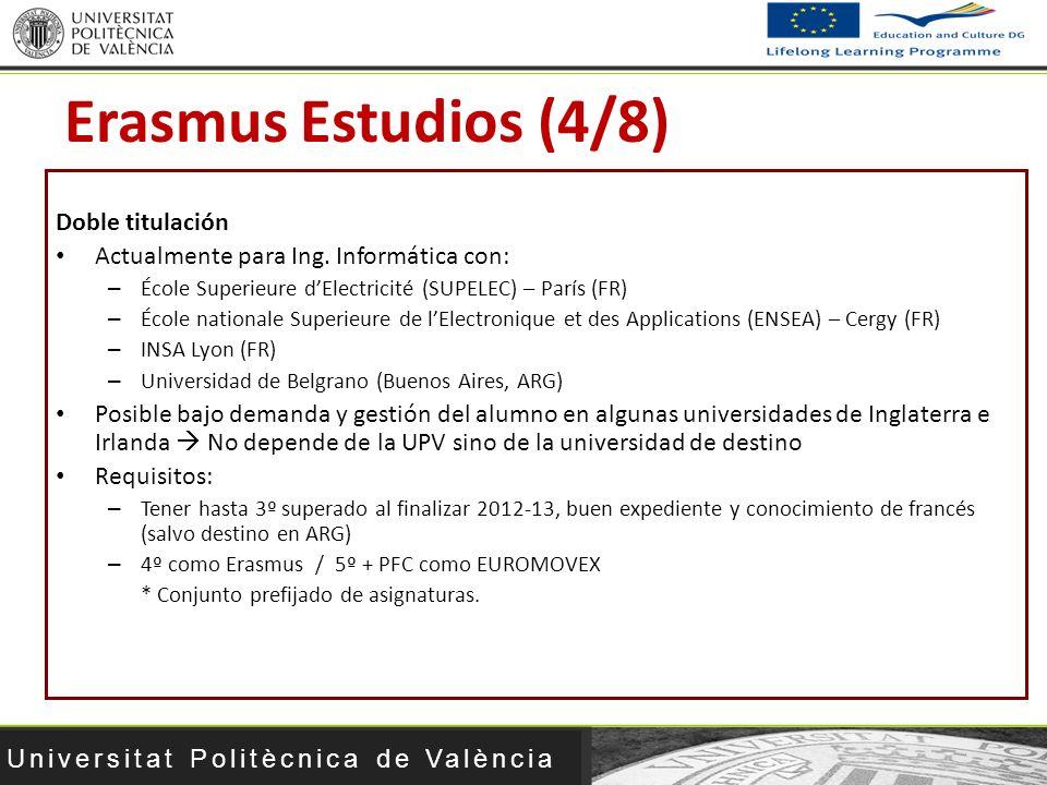 Erasmus Estudios (4/8) Doble titulación