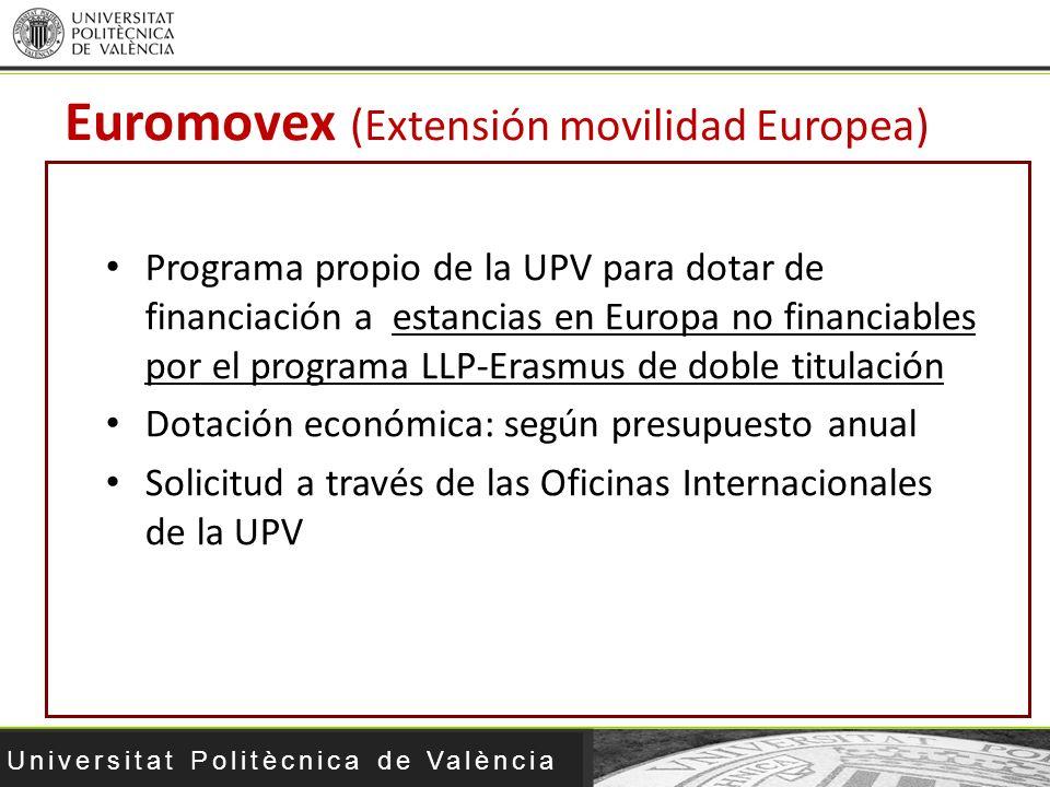 Euromovex (Extensión movilidad Europea)