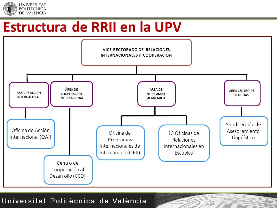 Estructura de RRII en la UPV