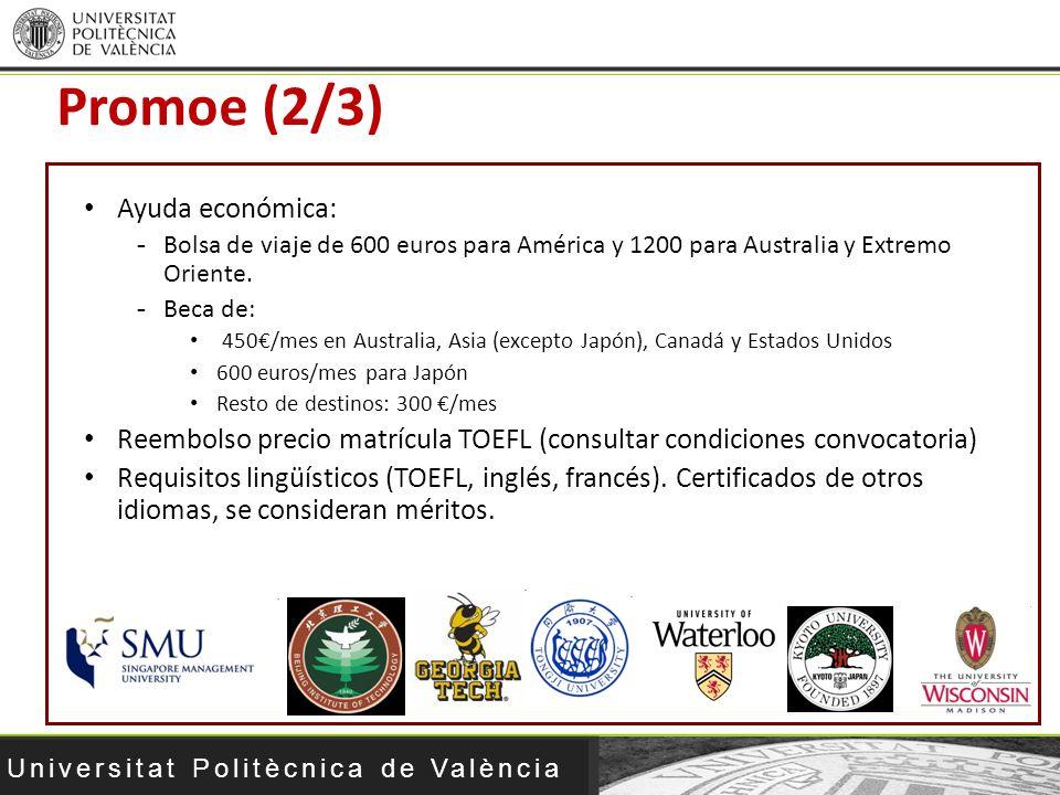 Promoe (2/3) Ayuda económica: