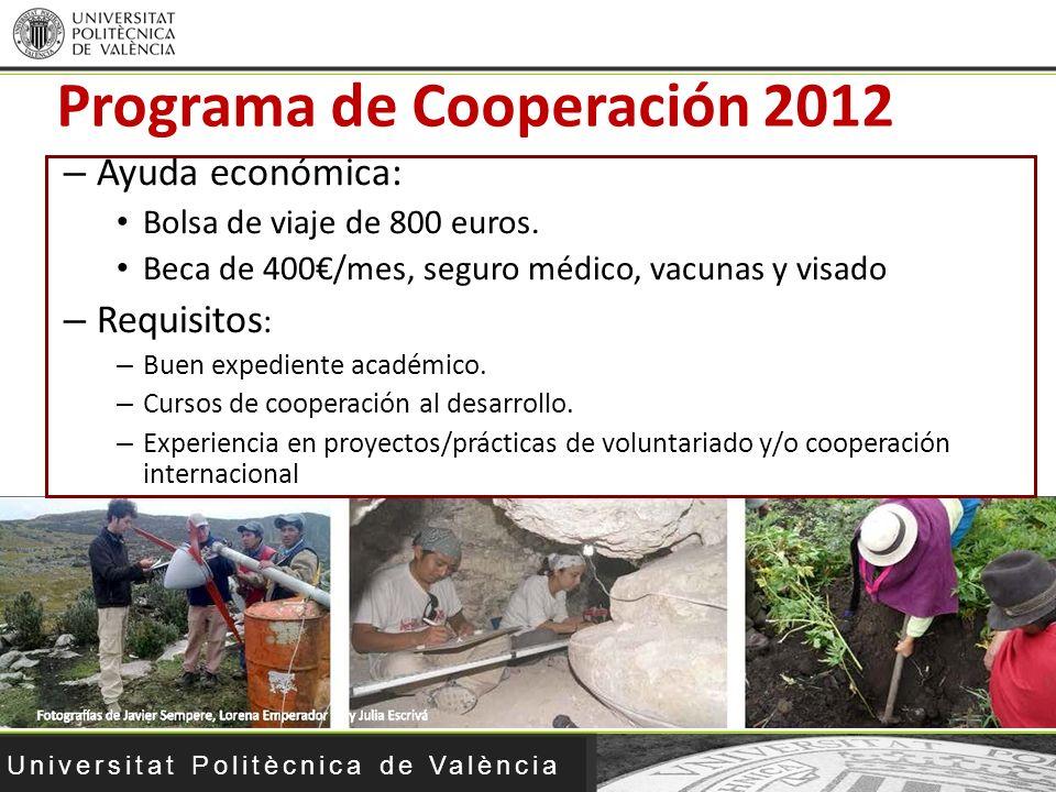 Programa de Cooperación 2012