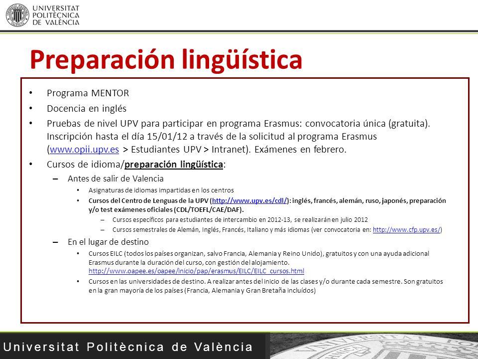 Preparación lingüística