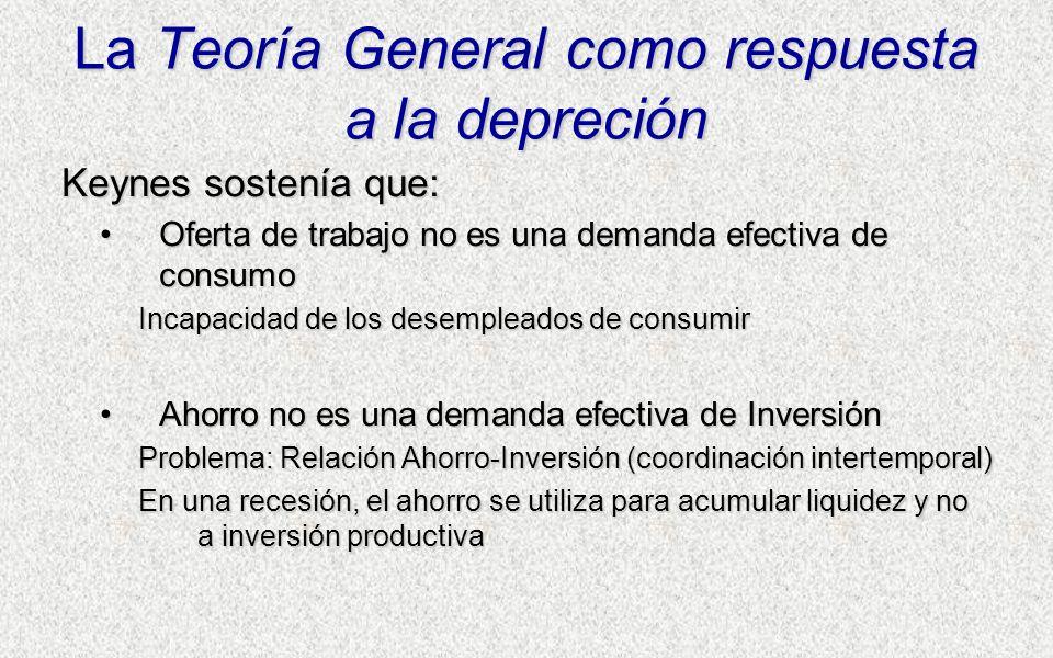 La Teoría General como respuesta a la depreción