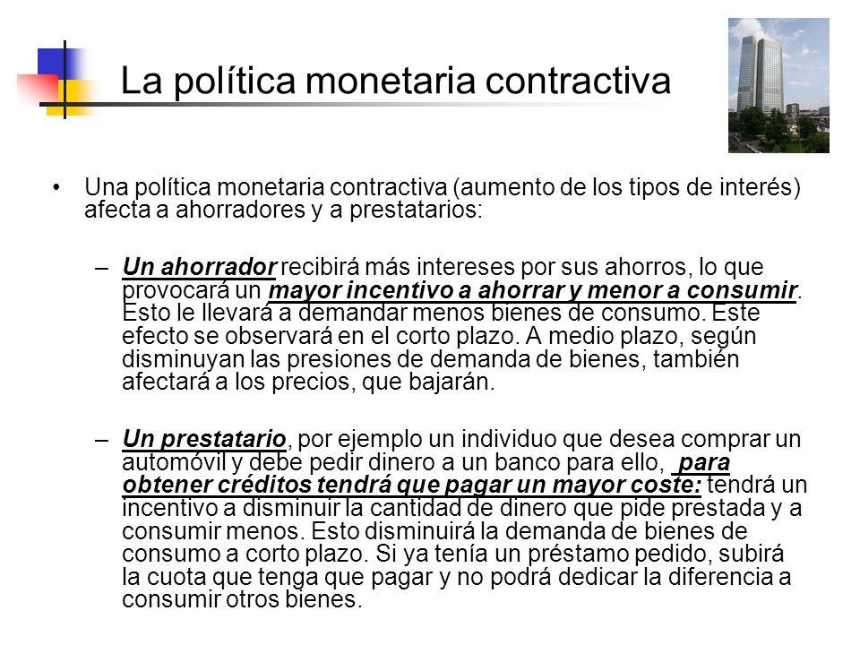 La política monetaria contractiva