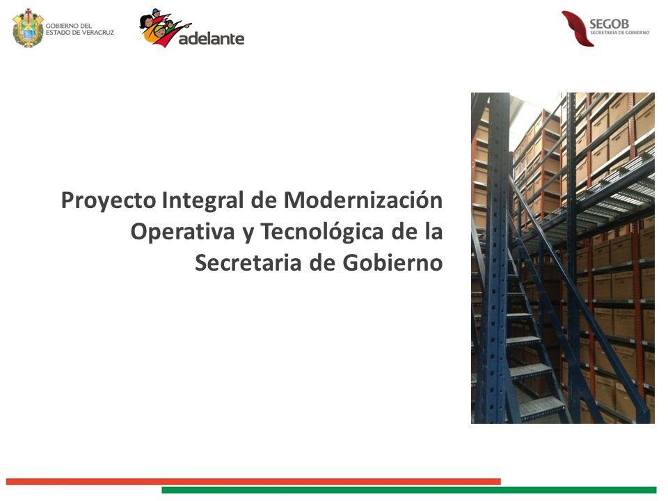 Proyecto Integral de Modernización Operativa y Tecnológica de la Secretaria de Gobierno