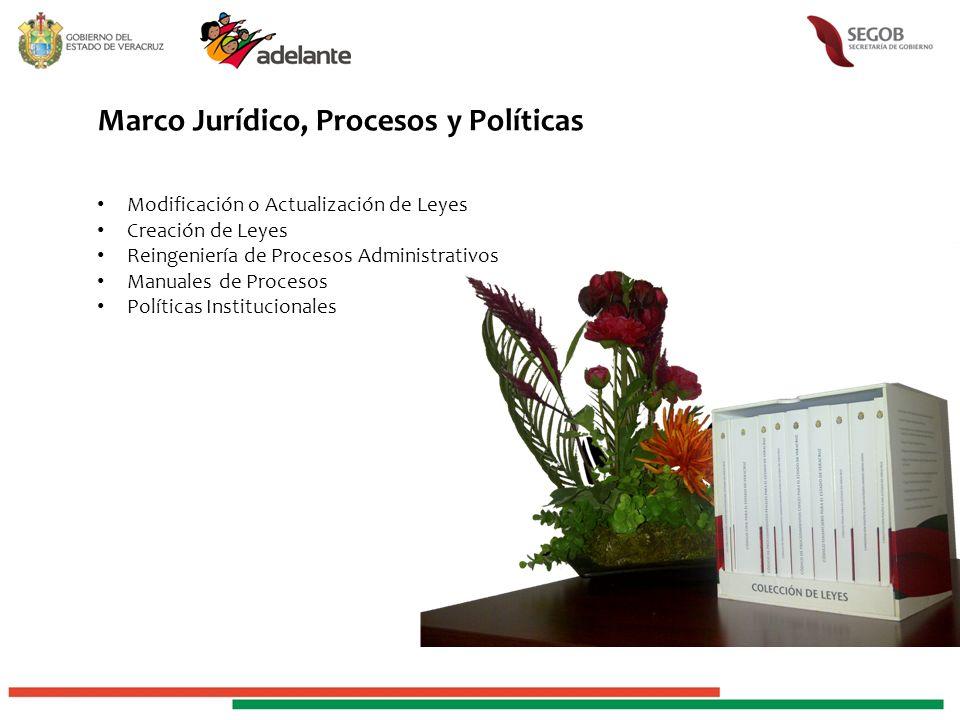 Marco Jurídico, Procesos y Políticas