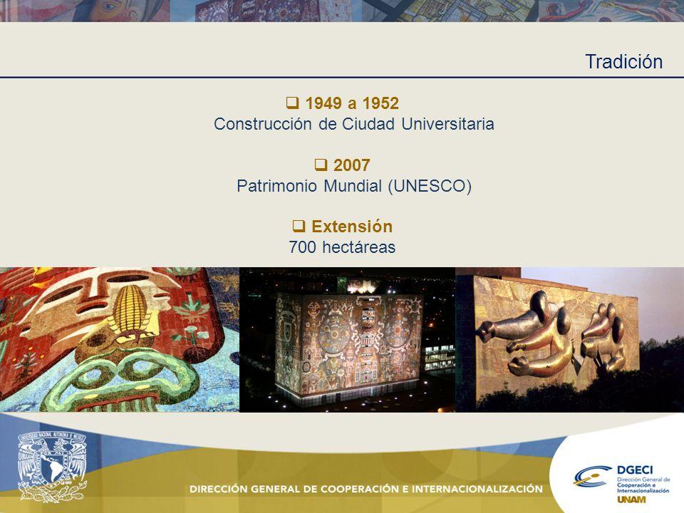 Tradición 1949 a 1952 Construcción de Ciudad Universitaria 2007