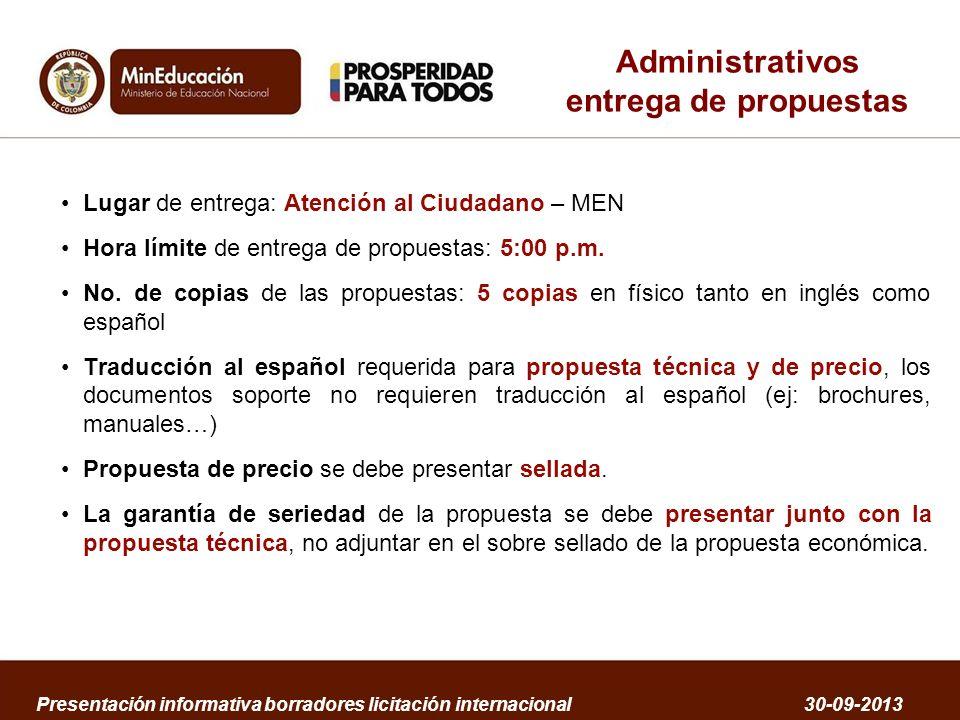 Administrativos entrega de propuestas