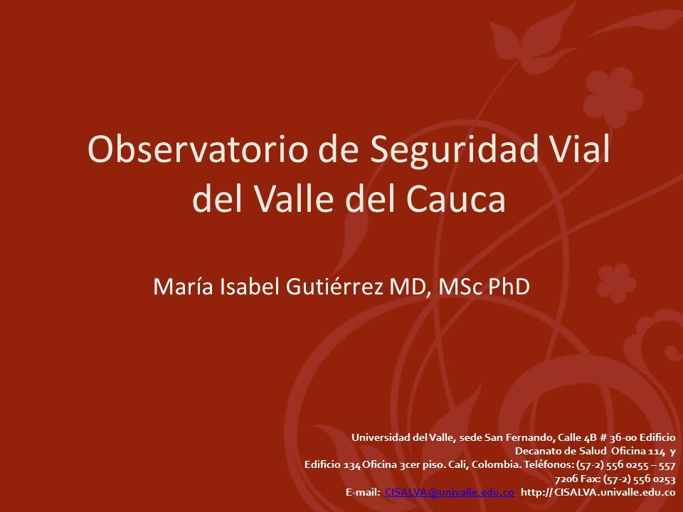 Observatorio de Seguridad Vial del Valle del Cauca
