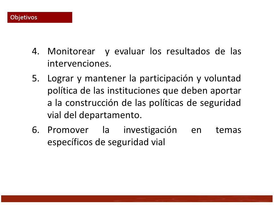 Monitorear y evaluar los resultados de las intervenciones.