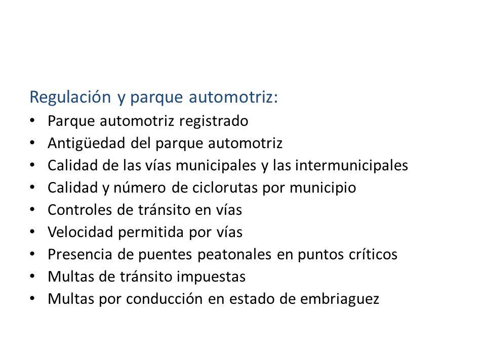 Regulación y parque automotriz: