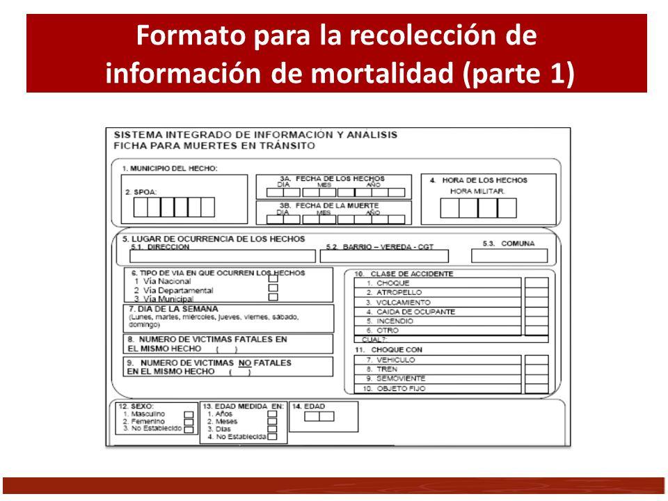 Formato para la recolección de información de mortalidad (parte 1)