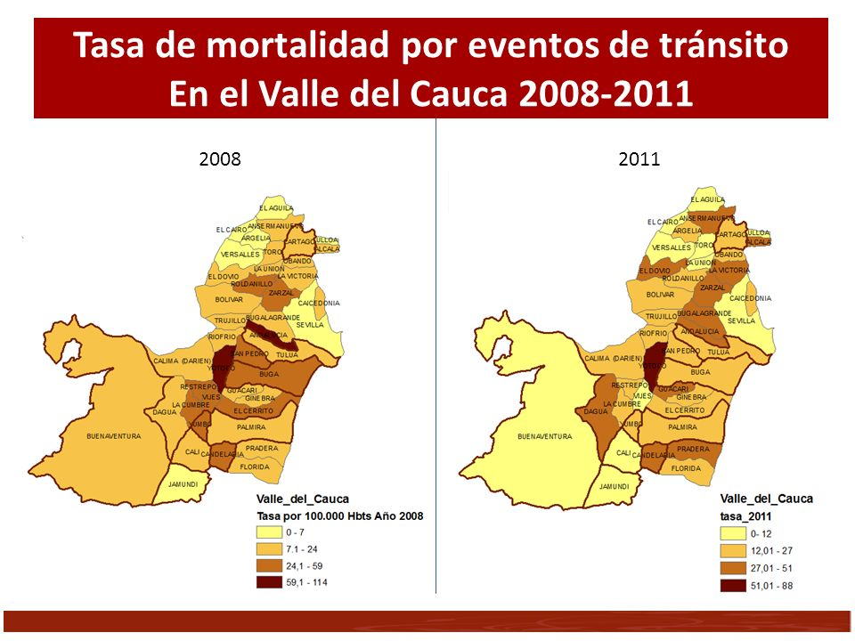 Tasa de mortalidad por eventos de tránsito