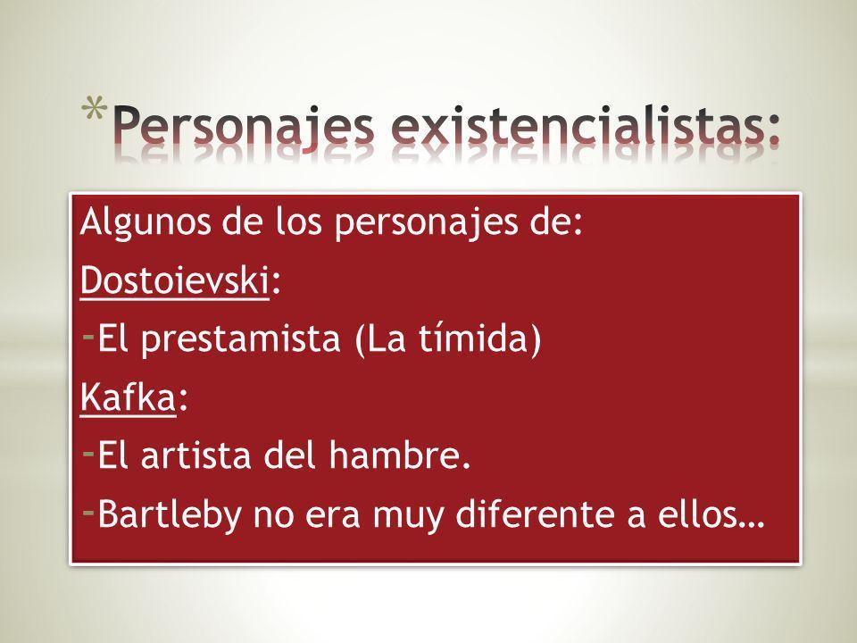 Personajes existencialistas: