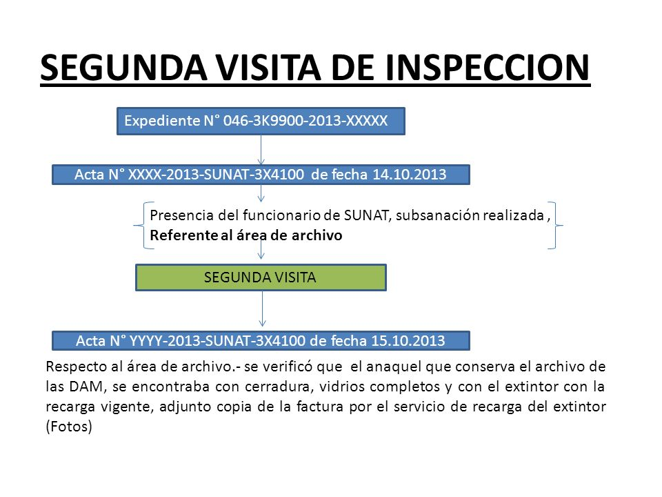 SEGUNDA VISITA DE INSPECCION