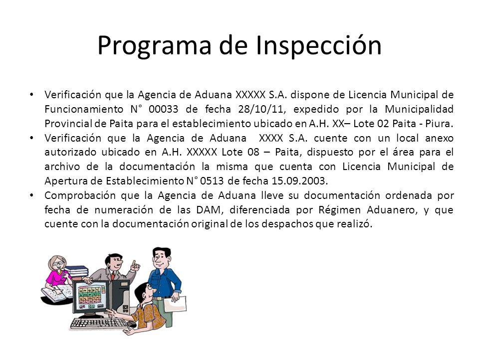 Programa de Inspección