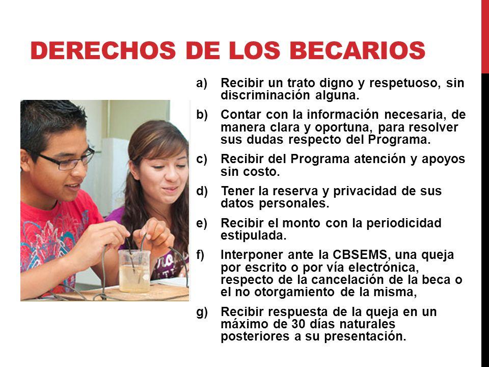 DERECHOS DE LOS BECARIOS