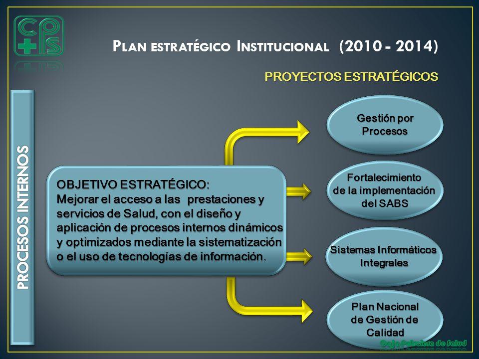 Sistemas Informáticos Plan Nacional de Gestión de Calidad