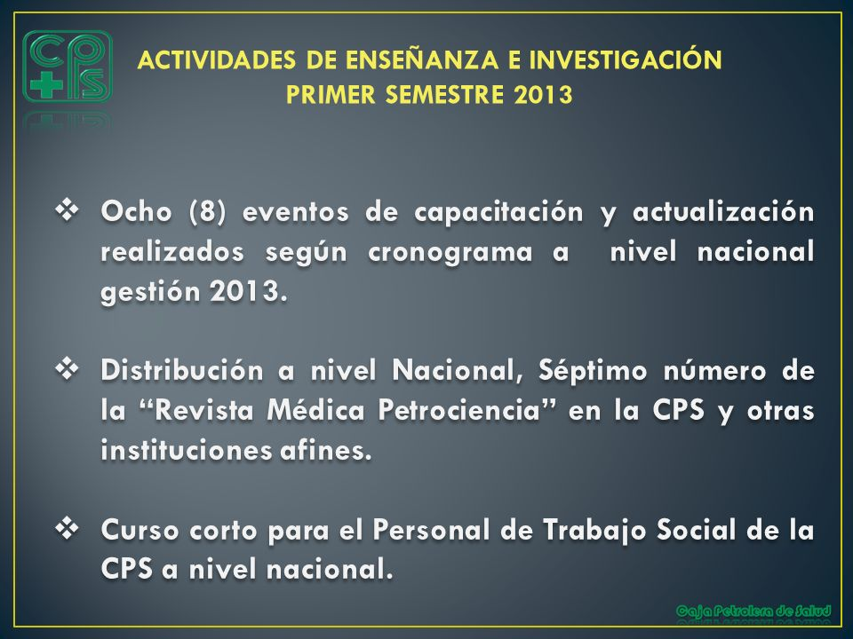 ACTIVIDADES DE ENSEÑANZA E INVESTIGACIÓN