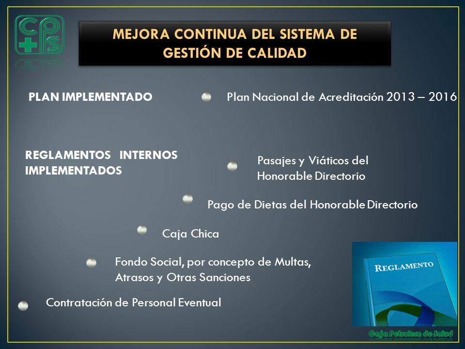 MEJORA CONTINUA DEL SISTEMA DE GESTIÓN DE CALIDAD