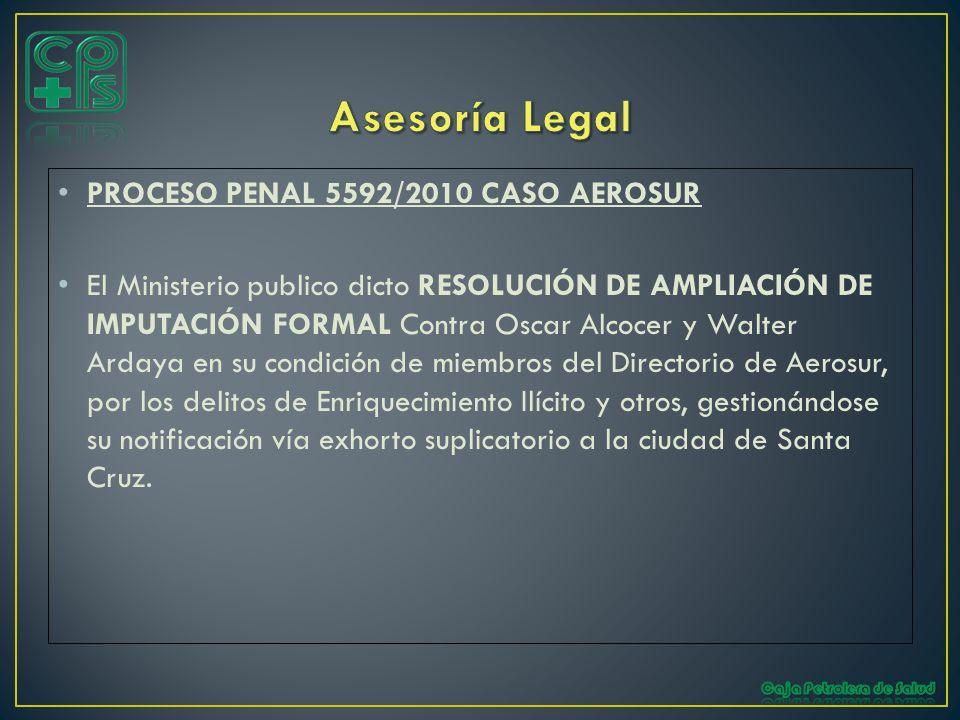 Asesoría Legal PROCESO PENAL 5592/2010 CASO AEROSUR