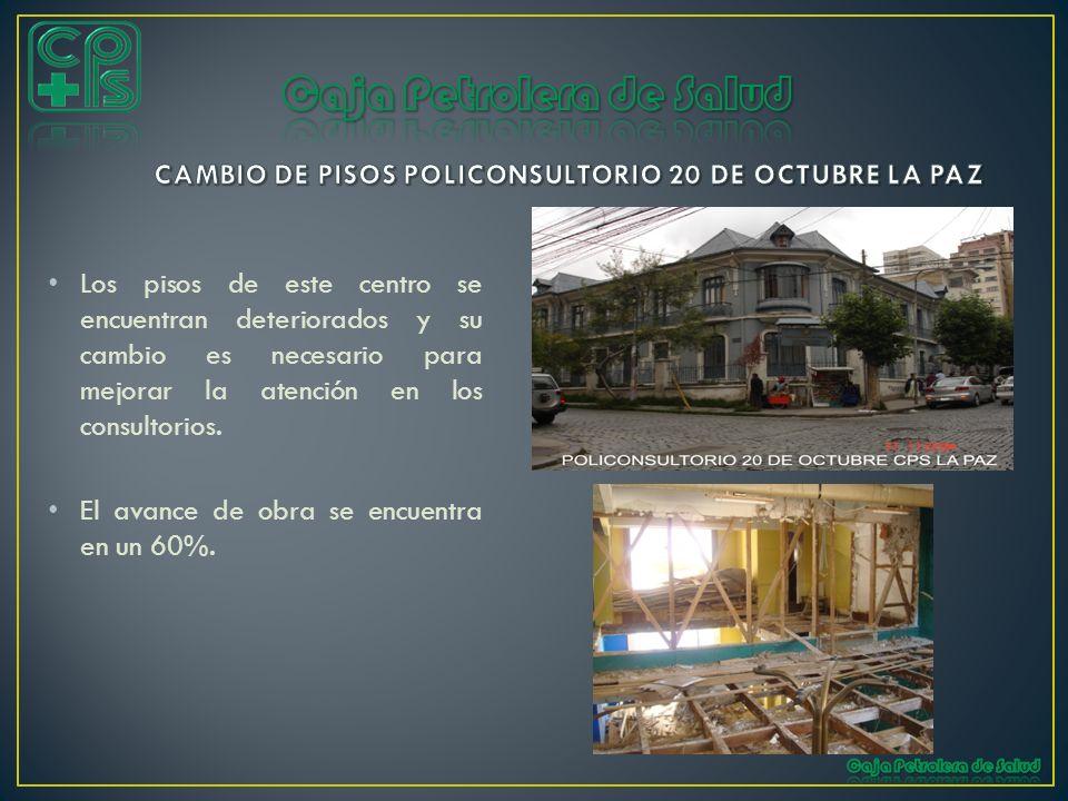 CAMBIO DE PISOS POLICONSULTORIO 20 DE OCTUBRE LA PAZ