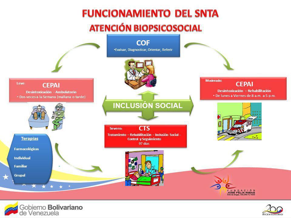 FUNCIONAMIENTO DEL SNTA ATENCIÓN BIOPSICOSOCIAL