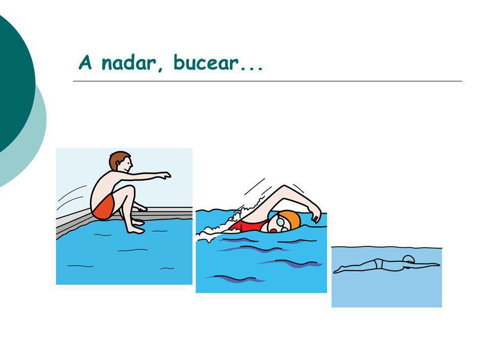 A nadar, bucear...