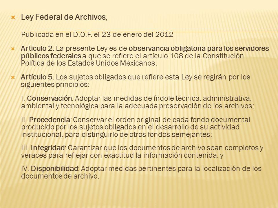 Ley Federal de Archivos,