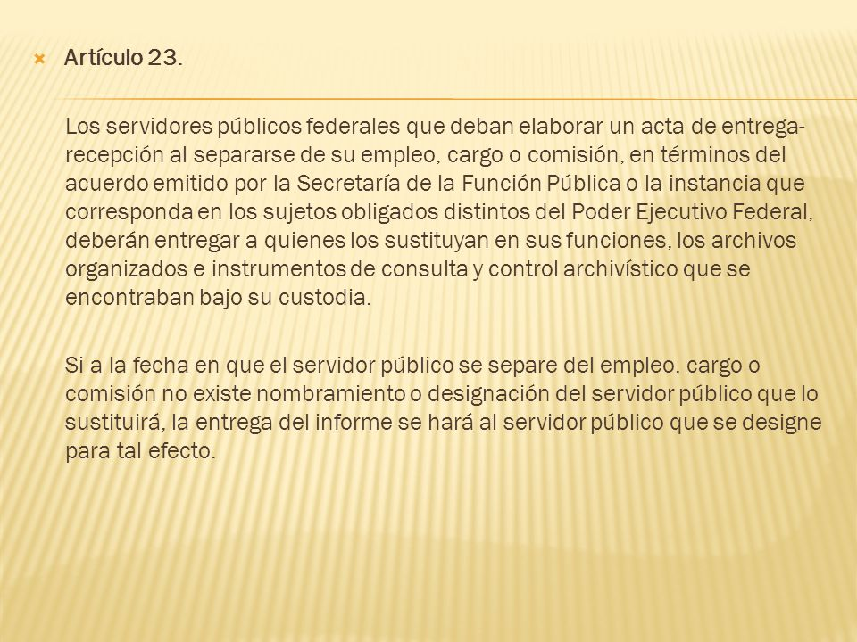 Artículo 23.