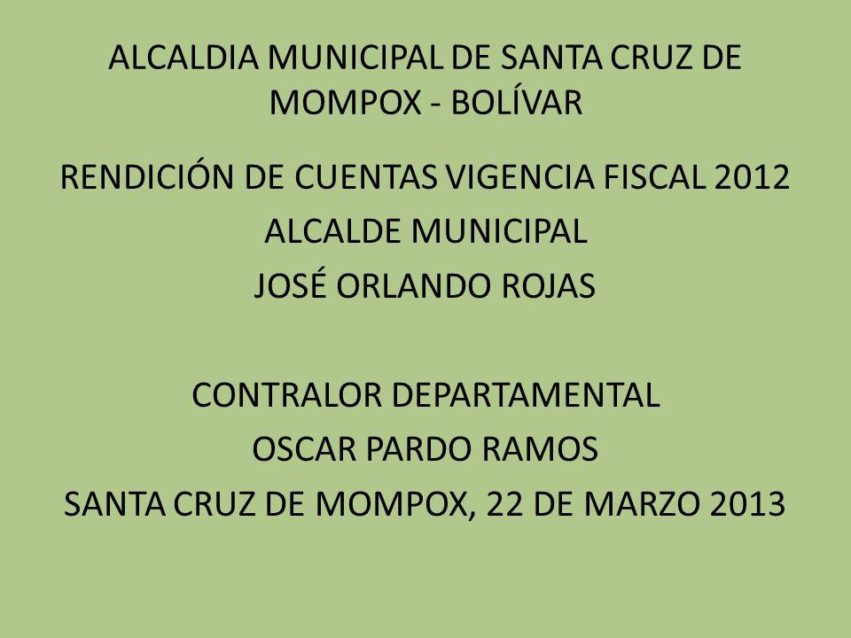 ALCALDIA MUNICIPAL DE SANTA CRUZ DE MOMPOX - BOLÍVAR