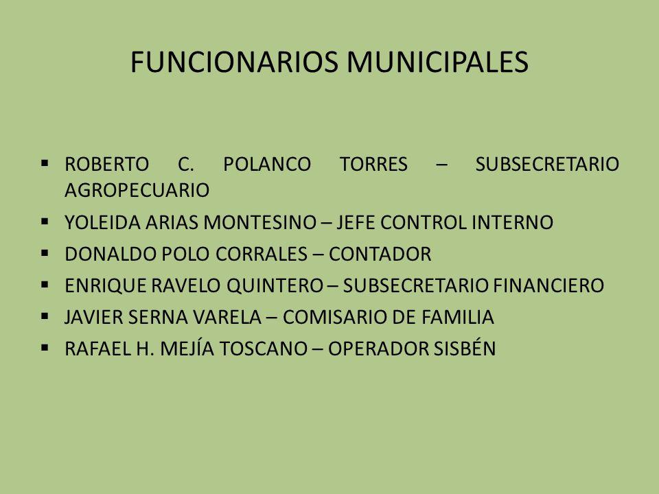 FUNCIONARIOS MUNICIPALES