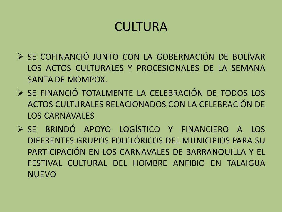 CULTURA SE COFINANCIÓ JUNTO CON LA GOBERNACIÓN DE BOLÍVAR LOS ACTOS CULTURALES Y PROCESIONALES DE LA SEMANA SANTA DE MOMPOX.