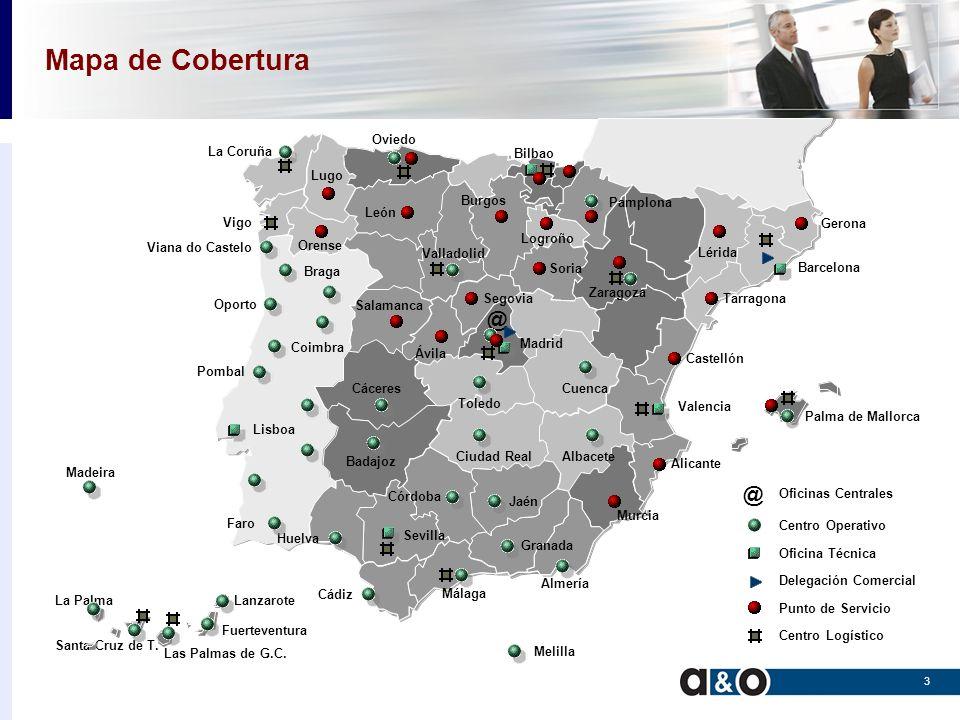 Mapa de Cobertura @ Santa Cruz de T. La Palma La Coruña Oviedo León