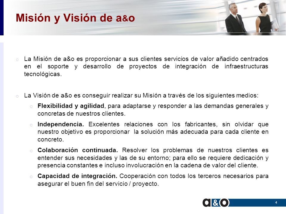Misión y Visión de a&o