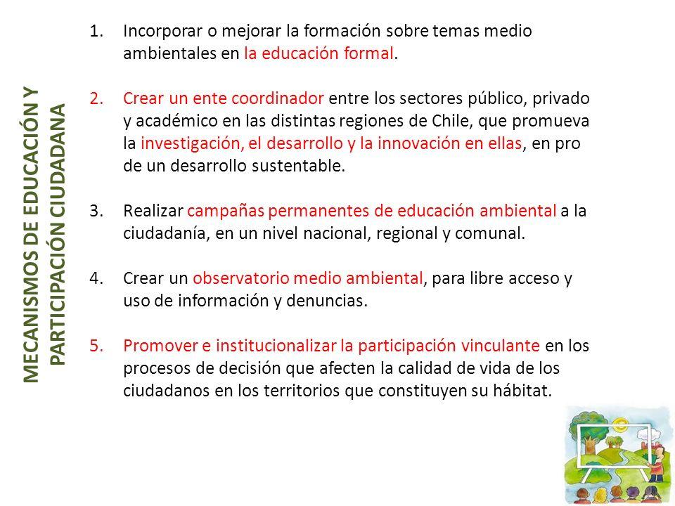 MECANISMOS DE EDUCACIÓN Y PARTICIPACIÓN CIUDADANA