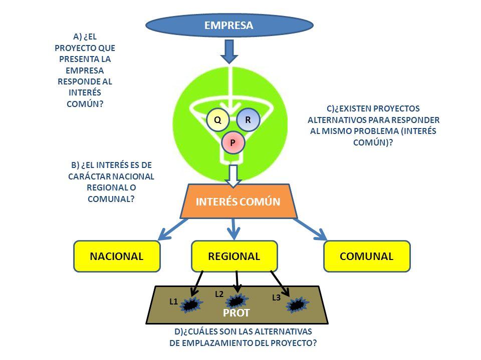 EMPRESA INTERÉS COMÚN NACIONAL REGIONAL COMUNAL PROT