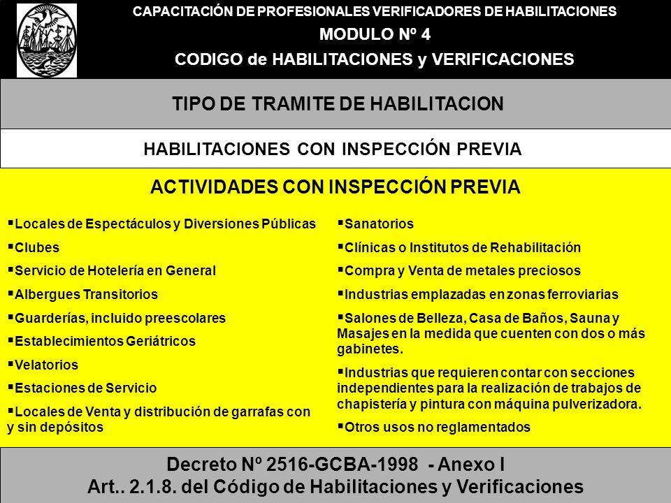 TIPO DE TRAMITE DE HABILITACION