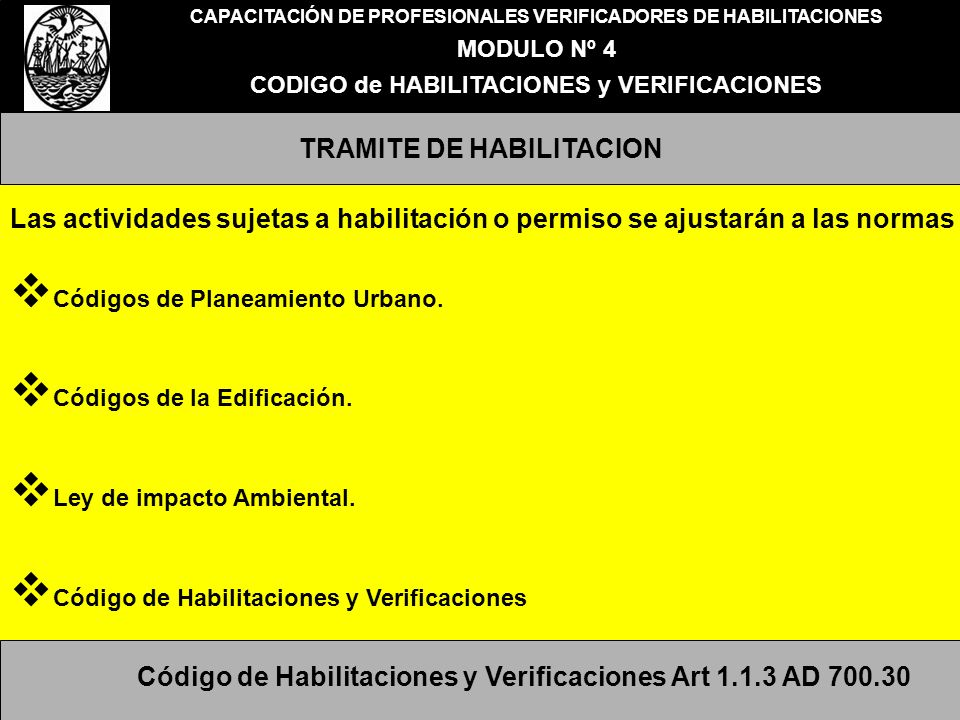 TRAMITE DE HABILITACION
